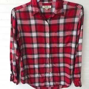 Eddie Bauer Plaid Soft Button Down Shirt *EUC*
